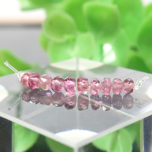 ピンクトルマリン AAA- ボタンカット 約1.8×2.8mm 010