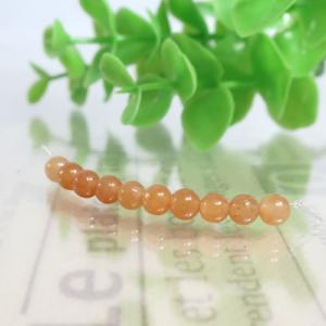 オレンジアベンチュリン(オレンジクォーツァイト) ラウンド 約4.5mm(BS146RD045)