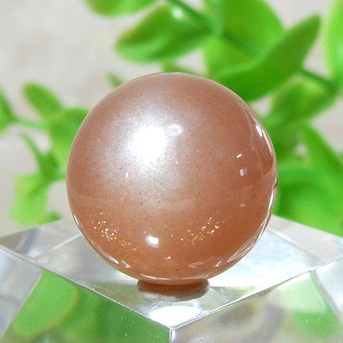 オレンジムーンストーン AAA- ラウンド 約13.5mm程度 005