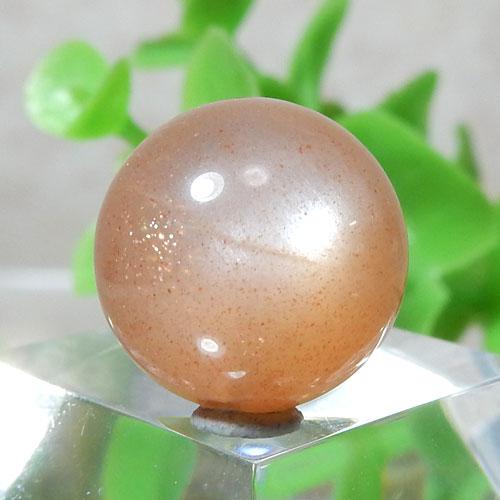 オレンジムーンストーン AAA- ラウンド 約13.5mm程度 008-0