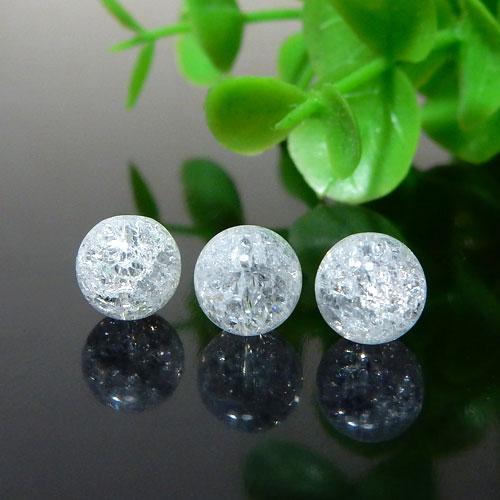 クラック水晶 ラウンド 6mm-0