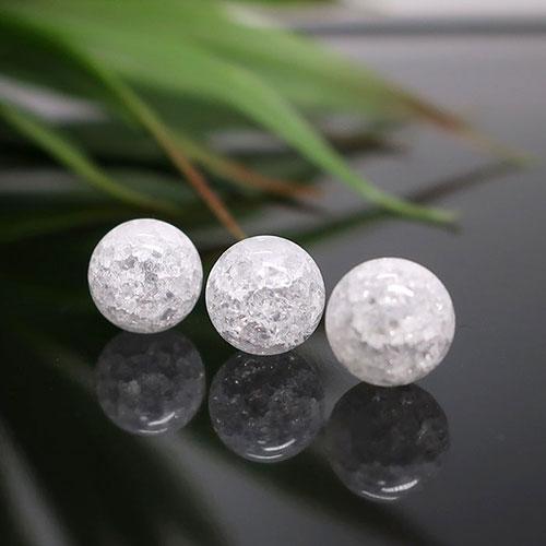 クラック水晶 ラウンド 8mm-0