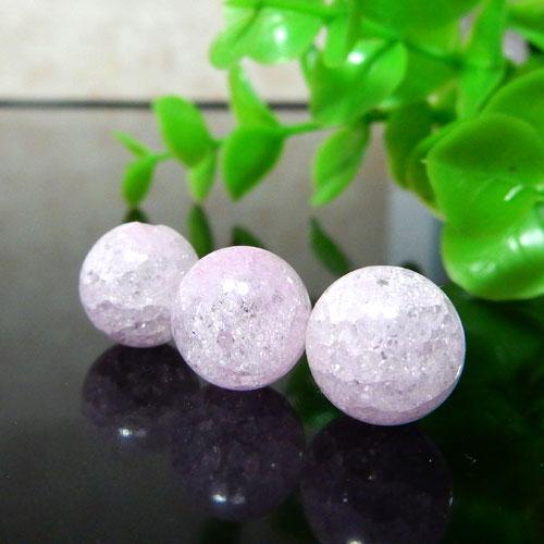 クラック水晶(ライトピンク) ラウンド 10mm-0