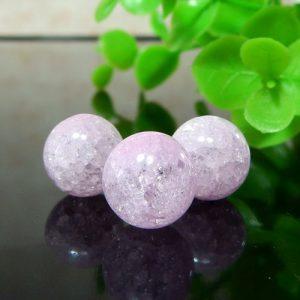 クラック水晶(ライトピンク) ラウンド 10mm