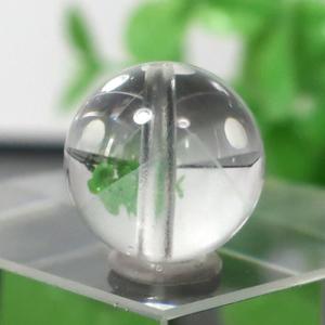 マダガスカル産グリーンファントムクォーツ AAA- ラウンド 約10mm 104