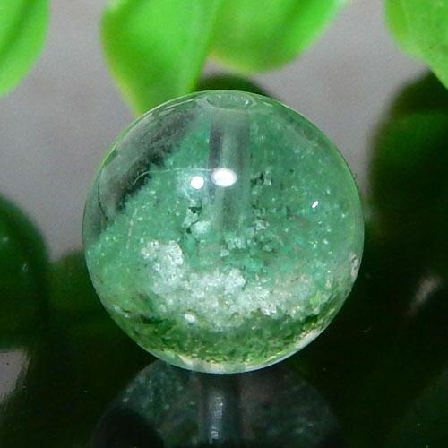マダガスカル産グリーンガーデンファントムクォーツ AAA- ラウンド 約10.5mm 007
