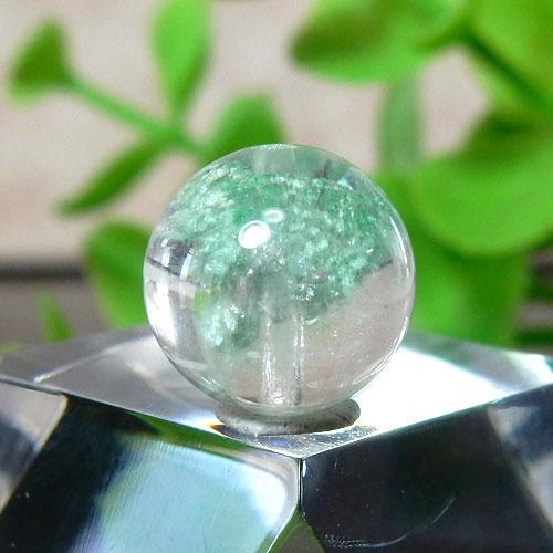 マダガスカル産グリーンガーデンファントムクォーツ AAA- ラウンド 約10.5mm 016-0