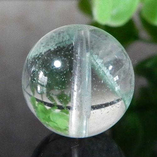 マダガスカル産グリーンファントムクォーツ AAA- ラウンド 約13mm 003-0