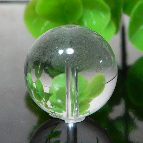 グリーンファントムクォーツ AAA- ラウンド 約15.5mm 006-0