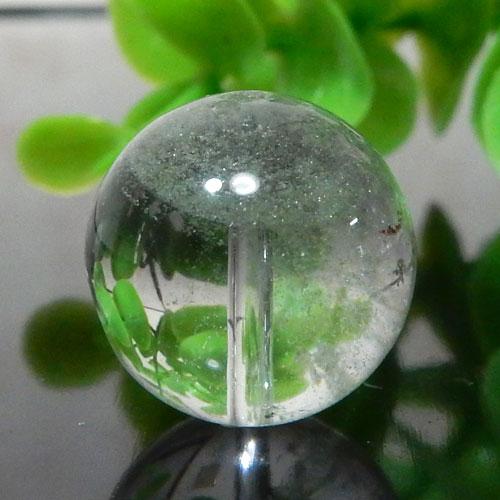グリーンファントムクォーツ AAA- ラウンド 約15.5mm 008-0