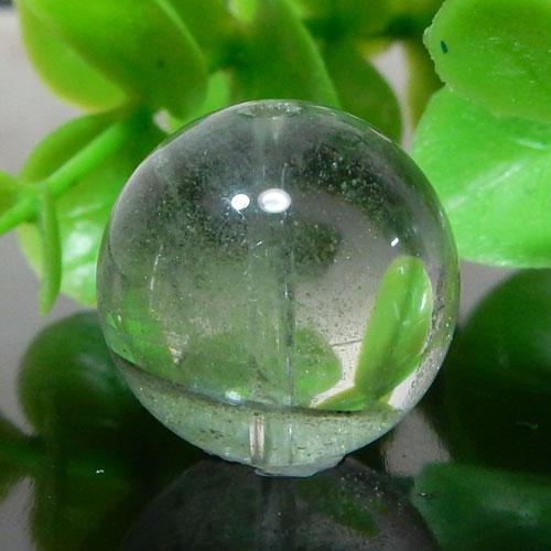 グリーンファントムクォーツ AAA- ラウンド 約15.5mm 011