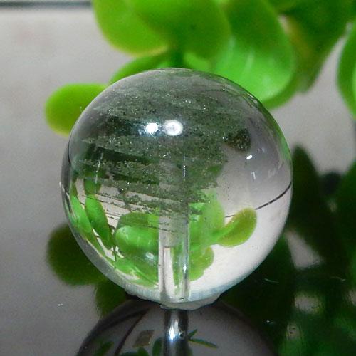 グリーンファントムクォーツ AAA- ラウンド 約15.5mm 012-0