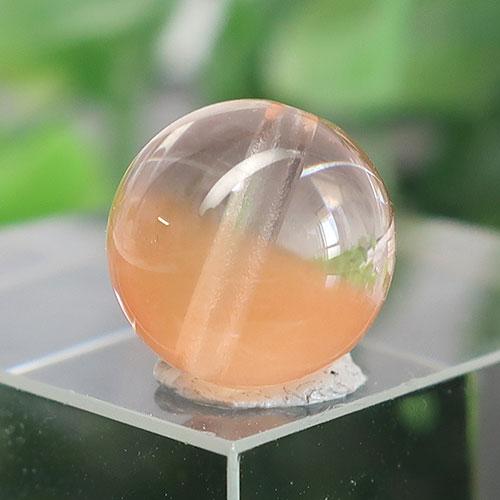 オレンジアンフィボールインクォーツ AAA- ラウンド 約9.7mm 019