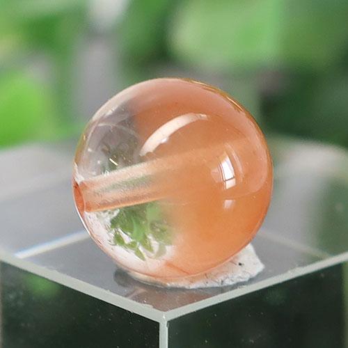 オレンジアンフィボールインクォーツ AAA- ラウンド 約9.5mm 020-0