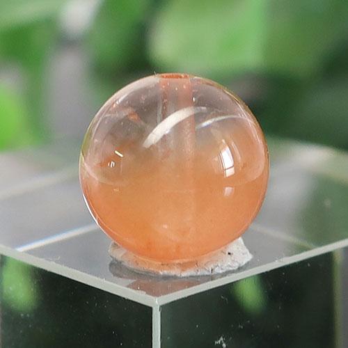 オレンジアンフィボールインクォーツ AAA- ラウンド 約9.5mm 020-1