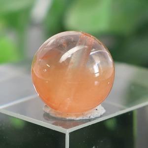 オレンジアンフィボールインクォーツ AAA- ラウンド 約9.5mm 020