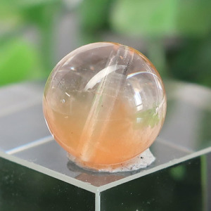 オレンジアンフィボールインクォーツ AAA- ラウンド 約9.9mm 021