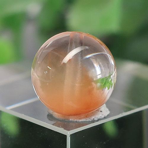 オレンジアンフィボールインクォーツ AAA- ラウンド 約9.7mm 023-1