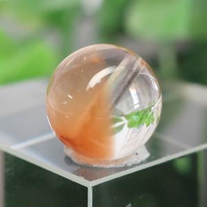 オレンジアンフィボールインクォーツ AAA- ラウンド 約9.7mm 023