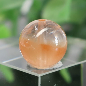 オレンジアンフィボールインクォーツ AAA- ラウンド 約9.6mm 025(BS216RD025)