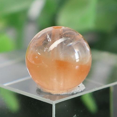オレンジアンフィボールインクォーツ AAA- ラウンド 約9.6mm 025