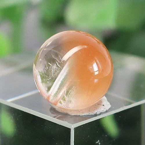 オレンジアンフィボールインクォーツ AAA- ラウンド 約9.4mm 026-0