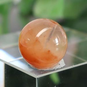 オレンジアンフィボールインクォーツ AAA- ラウンド 約9.4mm 027(BS216RD027)