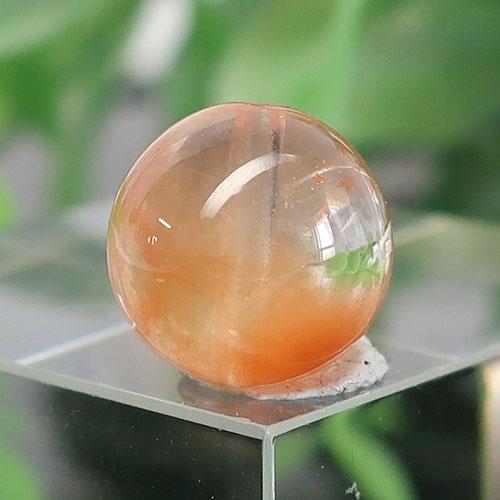 オレンジアンフィボールインクォーツ AAA- ラウンド 約9.7mm 028-1
