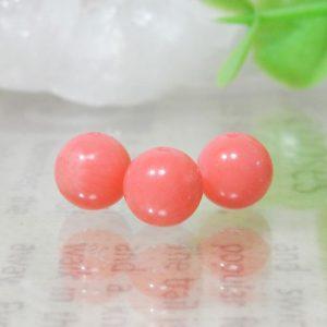 ピンクコーラル(ピンク珊瑚) ラウンド 6mm