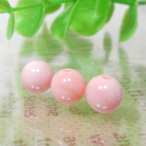 ピンクコーラル(ピンク珊瑚・天然色)AAA- ラウンド 6mm-0