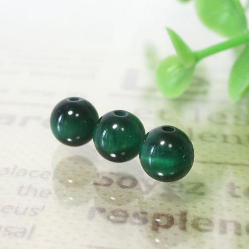 グリーンカラータイガーアイ ラウンド 約6.5mm程度-0