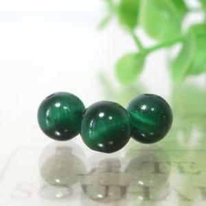 グリーンカラータイガーアイ ラウンド 約6.5mm程度
