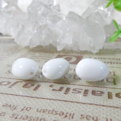 ホワイトオニキス AAA- タンブル 約9×13mm程度-0