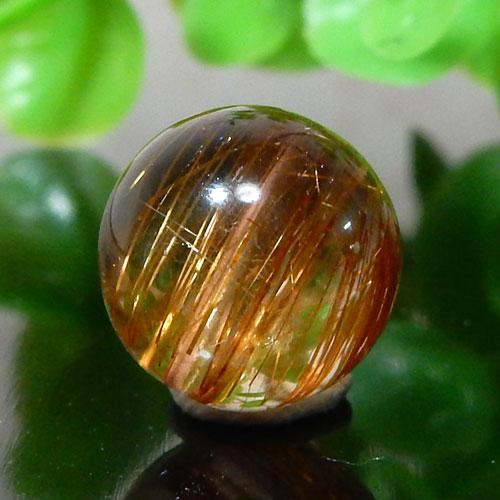 ブラウンオレンジルチルクォーツ AAA ラウンド 約10.5mm程度 002