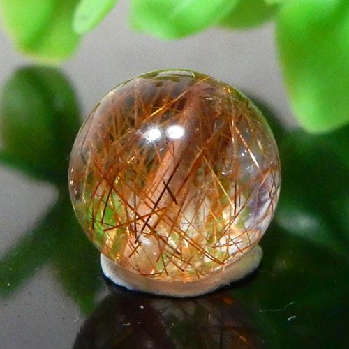 ブラウンオレンジルチルクォーツ AAA ラウンド 約10.5mm程度 009-0