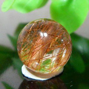 ブラウンオレンジルチルクォーツ AAA ラウンド 約10.5mm程度 009