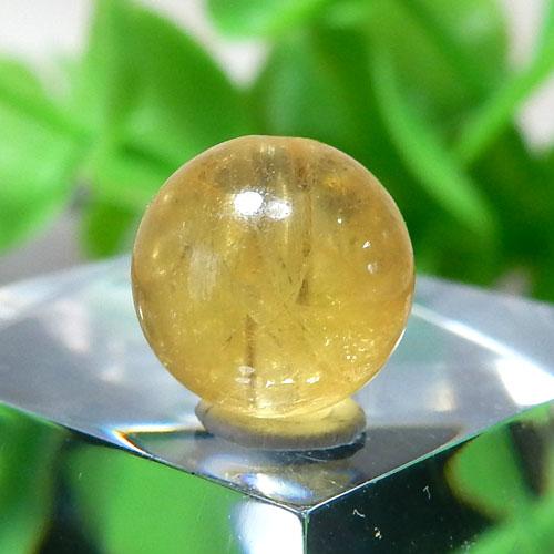 イエローベリル(ヘリオドール) AAA- ラウンド 約7.6mm 010