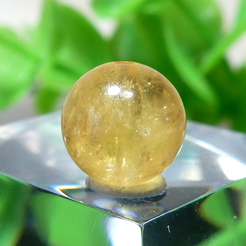 イエローベリル(ヘリオドール) AAA- ラウンド 約7.6mm 015-0