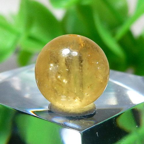 イエローベリル(ヘリオドール) AAA- ラウンド 約7.6mm 015