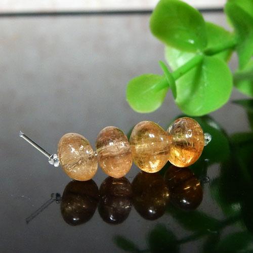 インペリアルトパーズ AAA- ボタン 約4×6.5mm程度 003-0