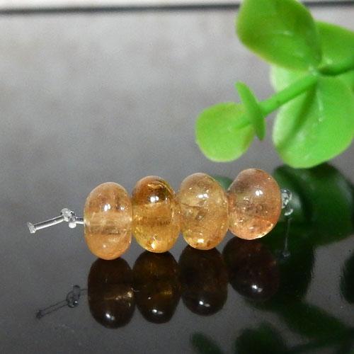 インペリアルトパーズ AAA- ボタン 約4×6.5mm程度 005-0