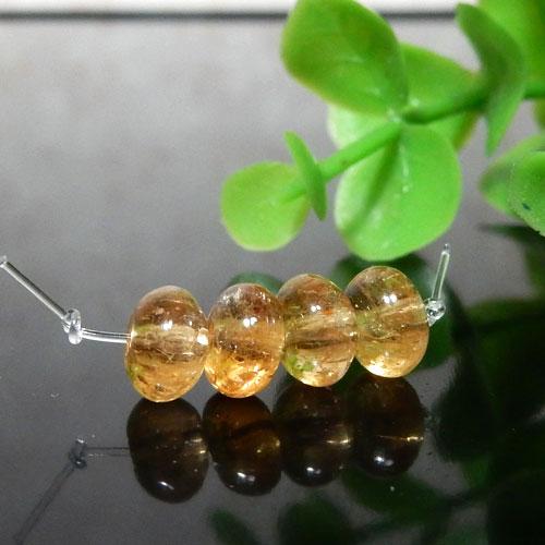 インペリアルトパーズ AAA- ボタン 約4×6.5mm程度 006-0