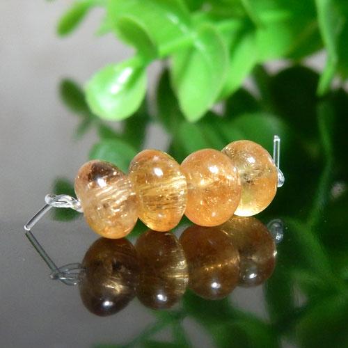 インペリアルトパーズ AAA- ボタン 約4×6.5mm程度 011-0