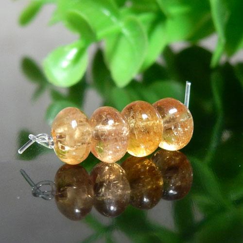 インペリアルトパーズ AAA- ボタン 約4×6.5mm程度 012-0