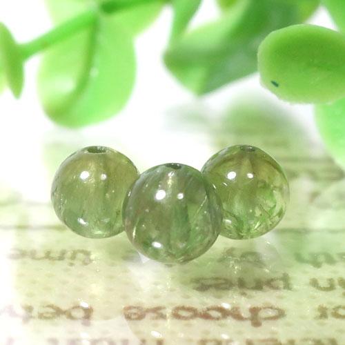 グリーンアパタイト AAA- ラウンド 約6.3mm程度