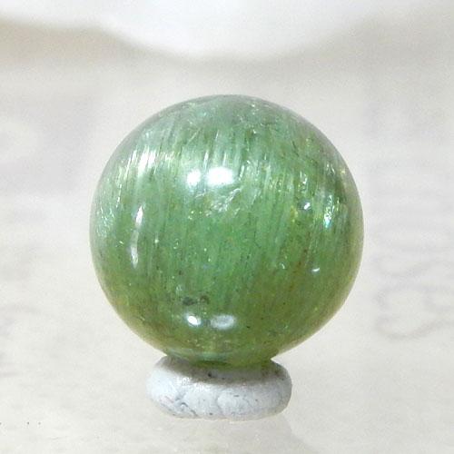 グリーンアパタイトキャッツアイ AAA- ラウンド 約9.5mm 001