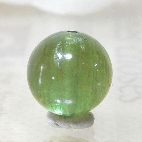 グリーンアパタイトキャッツアイ AAA- ラウンド 約9.5mm 003-0