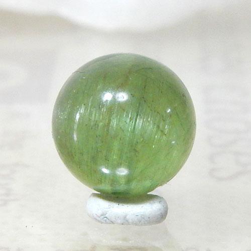 グリーンアパタイトキャッツアイ AAA- ラウンド 約9.5mm 003