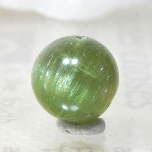 グリーンアパタイトキャッツアイ AAA- ラウンド 約9.5mm 004