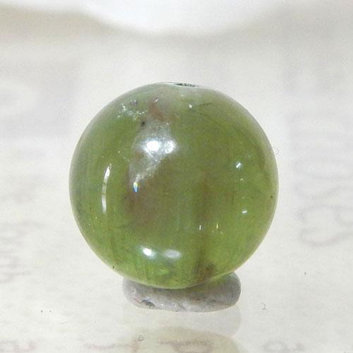 グリーンアパタイトキャッツアイ AAA- ラウンド 約9.5mm 008-0